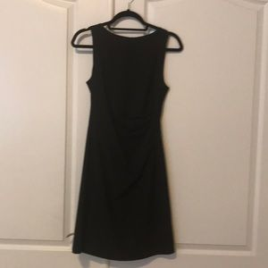 Theory little black dress with side ruche, size 2